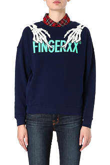 FINGERCROXX I.T detachable-collar sweatshirt