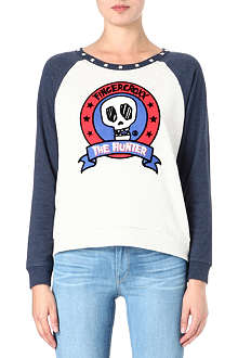FINGERCROXX I.T skull-print long-sleeved top