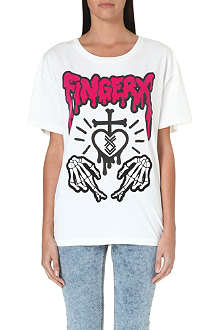FINGERCROXX I.T logo-print cotton t-shirt