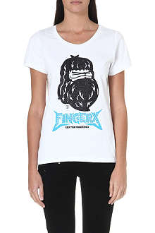 FINGERCROXX I.T Bigfoot ape-printed t-shirt