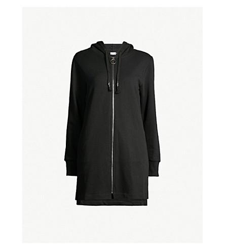 5CM Printed cotton-jersey hoody (Black
