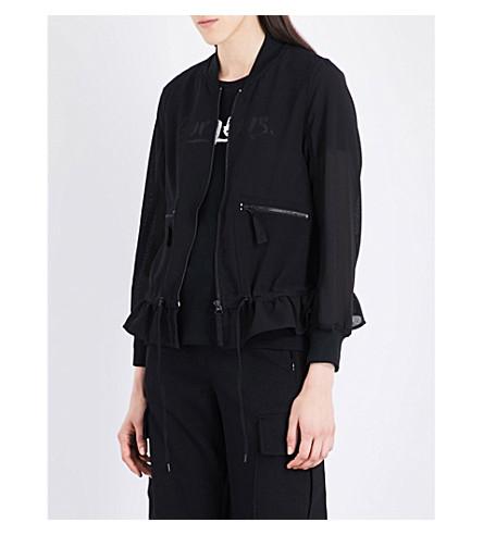 IZZUE Semi-sheer woven jacket (Black