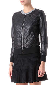 IZZUE I.T quilted leather zip-up jacket