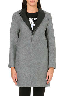 IZZUE I.T contrast-lapel wool-blend coat