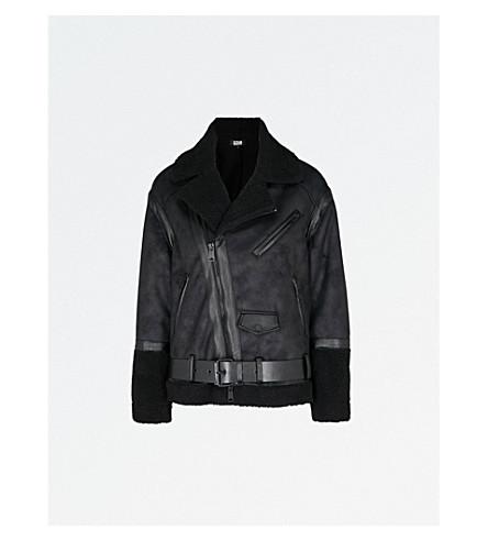 IZZUE Oversized faux-shearling jacket (Black