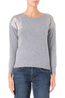 IZZUE I.T quilted-shoulder jumper