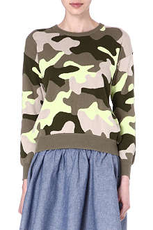 IZZUE I.T knitted camouflage jumper