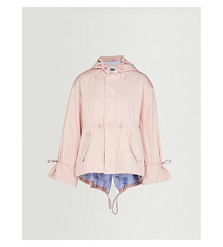IZZUE Hooded cotton-blend parka jacket (Pink