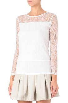 IZZUE I.T lace long-sleeved top