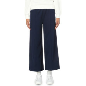 Wide-leg jersey trousers