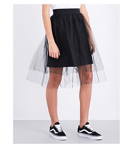 IZZUE Layered tulle skirt (Black