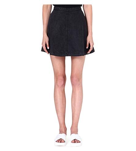 IZZUE A-line denim mini skirt (Denim