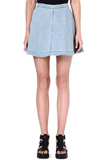 IZZUE A-line denim mini skirt