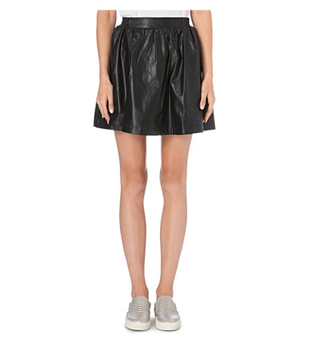 IZZUE I.T. faux-leather skirt (Black