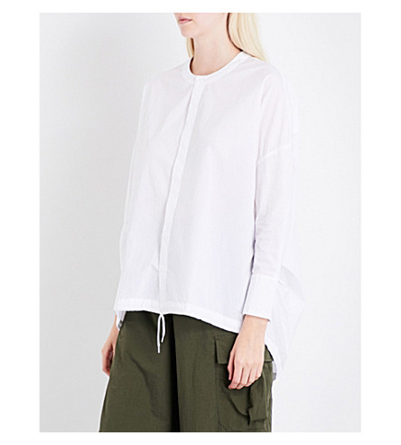 IZZUE Oversized cotton-poplin shirt (White
