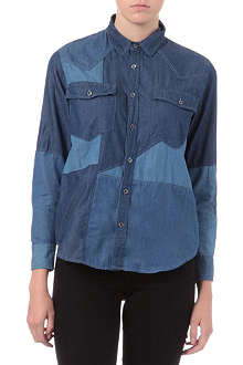 IZZUE I.T patchwork chambray shirt
