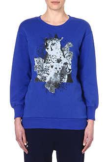 IZZUE Leopard cat sweatshirt