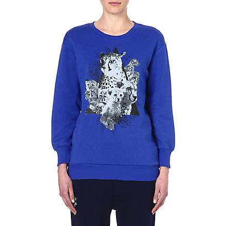 IZZUE Leopard cat sweatshirt (Blue