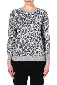 IZZUE Terry leopard print sweatshirt