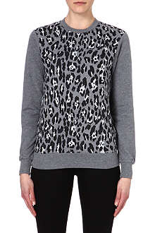 IZZUE I.T. leopard panel cotton top