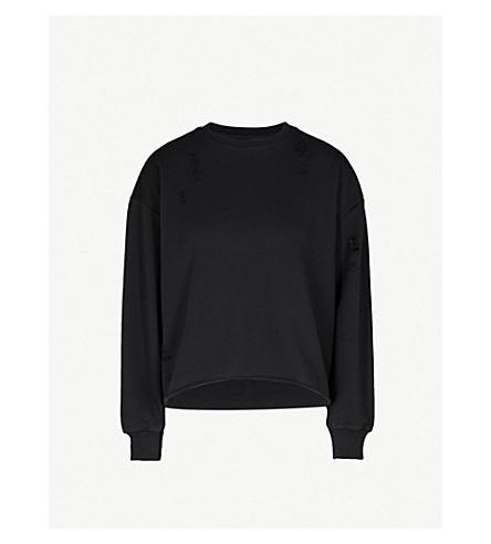 IZZUE Tron cotton-blend sweatshirt (Black
