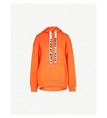 IZZUE Slogan cotton-blend hoody (Orange