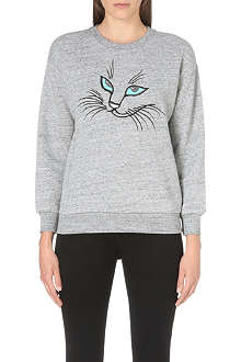 IZZUE I.T. cat face sweatshirt