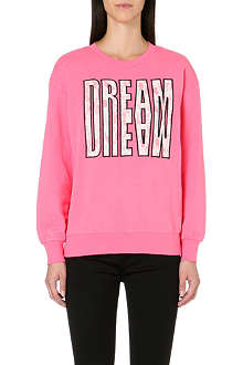 IZZUE Applique slogan sweatshirt