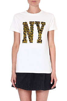 IZZUE I.T Leopard-print NY t-shirt