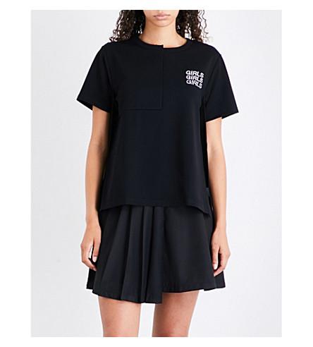 IZZUE Girls girls girls jersey T-shirt (Black