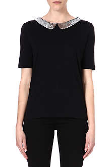 IZZUE I.T Sequin-collar top