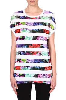 IZZUE I.T floral-stripe t-shirt