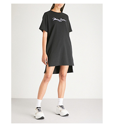 MUSIUM Logo-print cotton-jersey T-shirt dress (Black