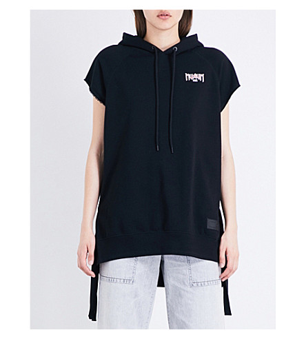MUSIUM Logo-print cotton-jersey hoody (Bkx