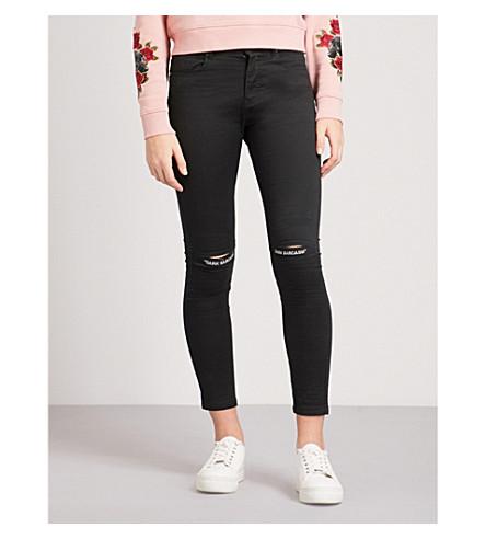 MUSIUM Logo-print skinny mid-rise jeans (Black