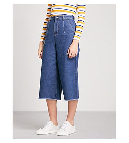MUSIUM 宽裁剪的高层牛仔裤 (蓝色
