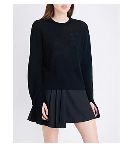 MUSIUM Split-cuff knitted jumper (Bkx