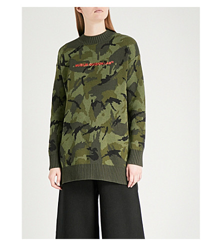 MUSIUM Logo-embroidered camouflage cotton jumper (Camo