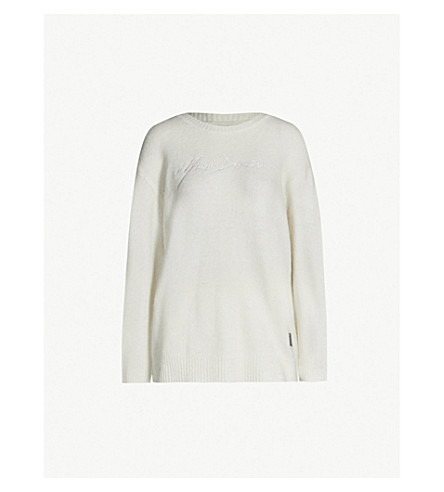 MUSIUM Logo-embroidered oversized knitted sweatshirt (Cream