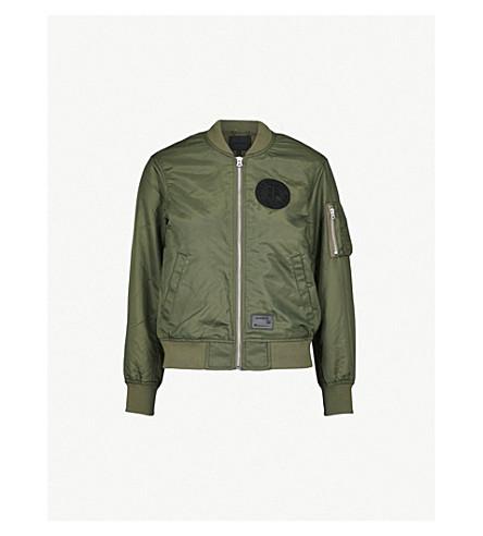 MUSIUM Logo-embroidered shell bomber jacket (Khaki