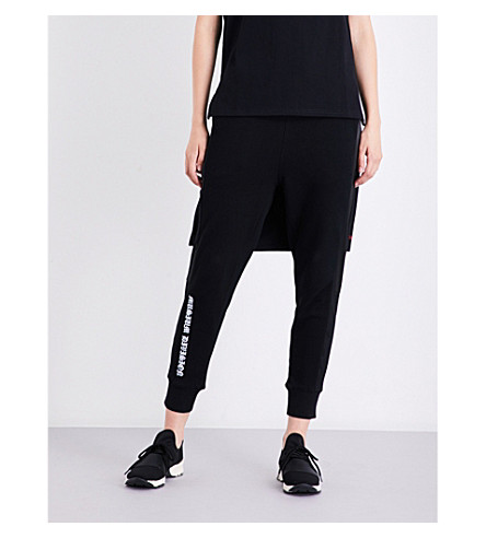 MUSIUM Logo-print cotton-jersey jogging bottoms (Black