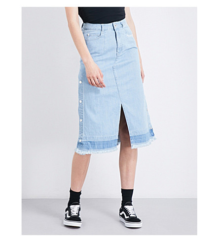 MUSIUM Denim midi skirt (Blx