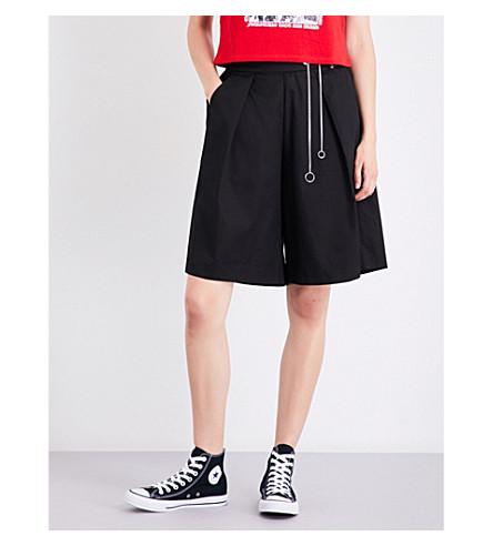 MUSIUM Chain-detail high-rise cotton shorts (Black