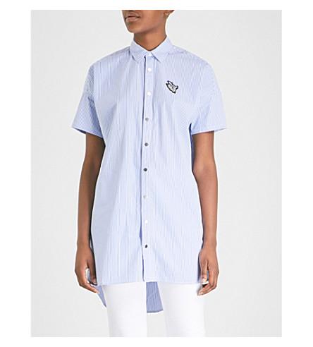 MUSIUM Striped cotton shirt (Blue