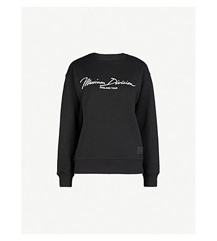 MUSIUM Tiger-embroidered cotton-jersey sweatshirt (Black