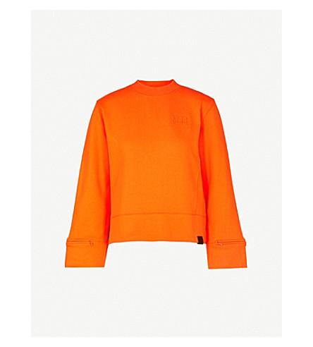 MUSIUM Split-cuff cotton-jersey sweatshirt (Orange