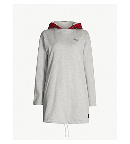 MUSIUM Contrast-hoody cotton-jersey dress (Grey