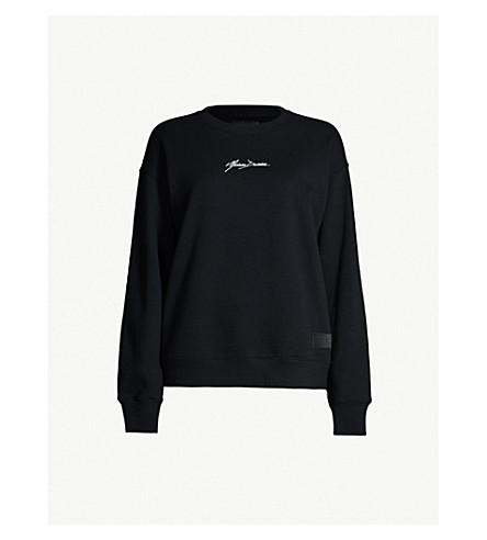 MUSIUM Logo-embroidered cotton-jersey sweatshirt (Black