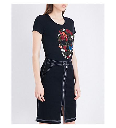 MUSIUM Embroidered-skull cotton-jersey T-shirt (Bkx