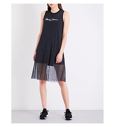 MUSIUM Striped jersey dress (Navy